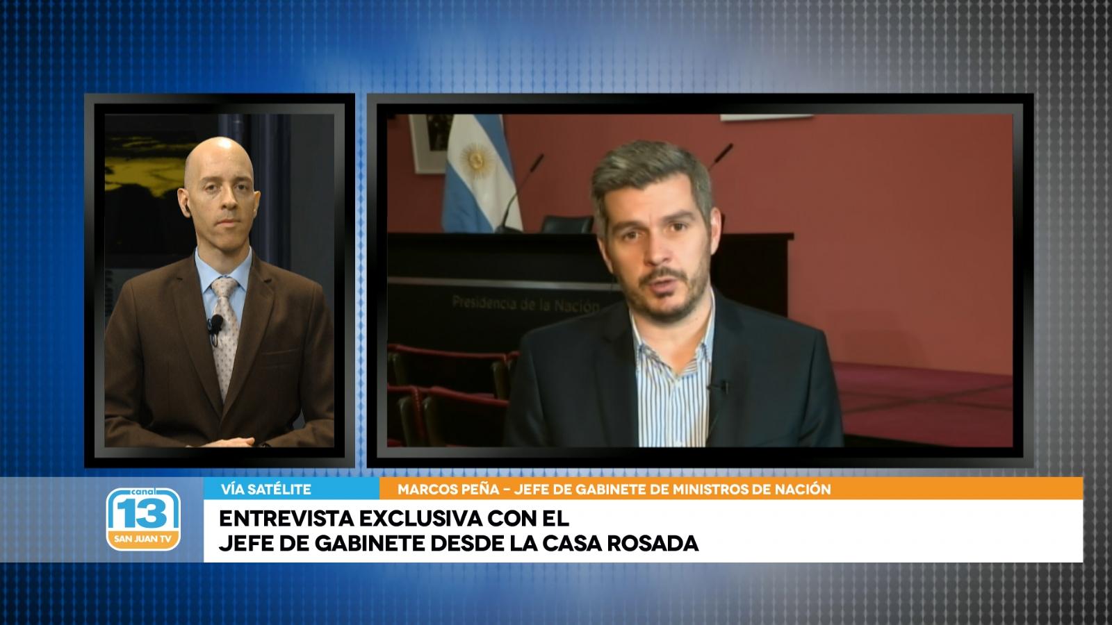 Exclusivo: El jefe de Gabinete Marcos Peña a fondo en Canal 13 San ...