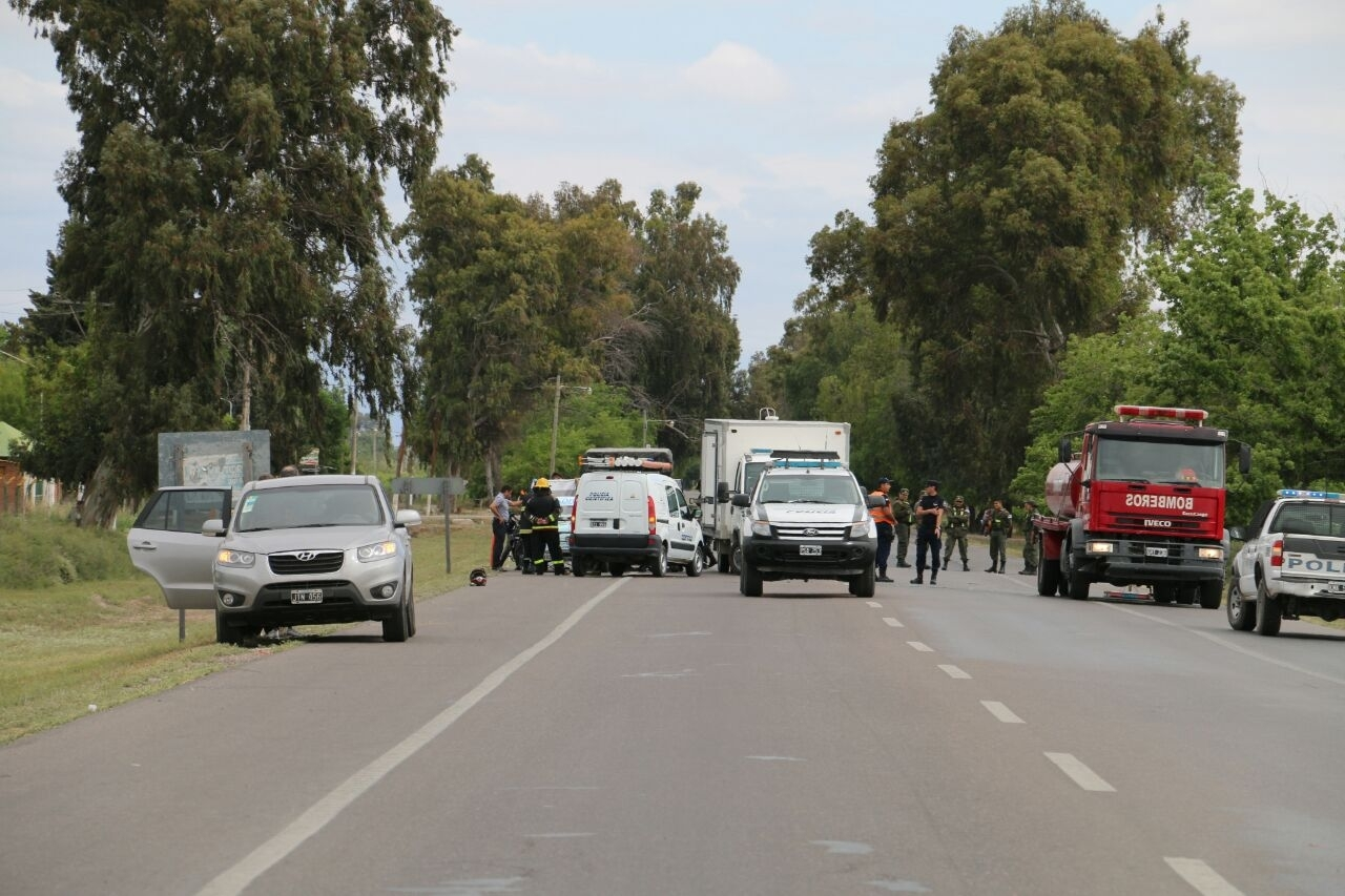 Una nena falleció en un accidente en la Ruta 20