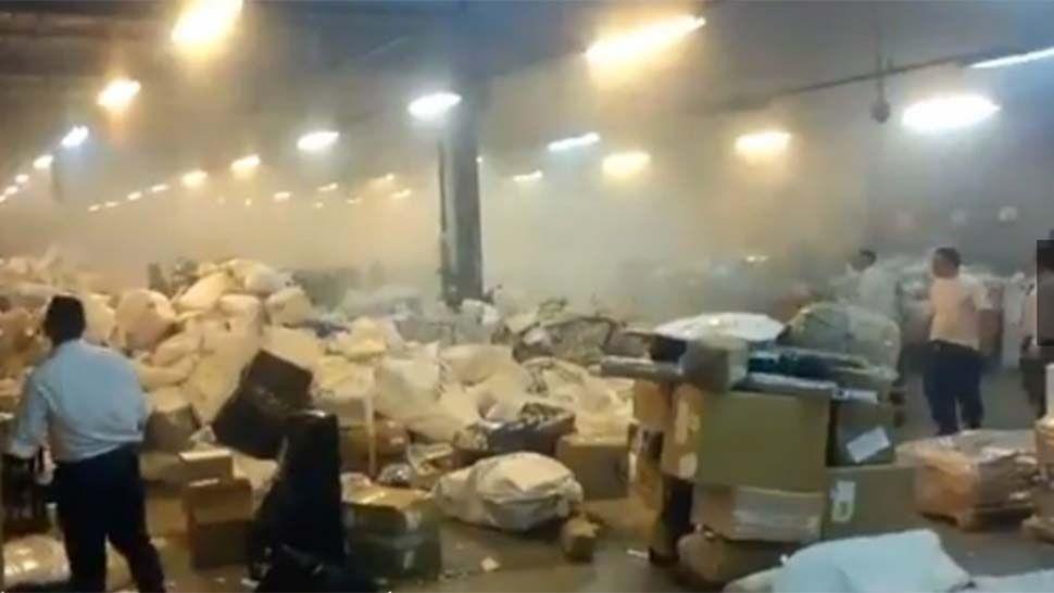 Fuerte explosión en la Central Operativa del Correo Argentino