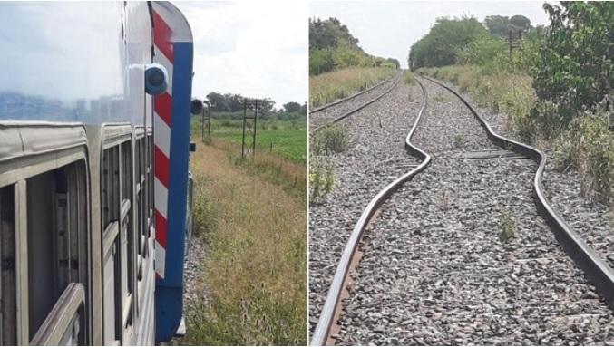 Descalzó un tren en Buenos Aires porque las vías se doblaron por el calor