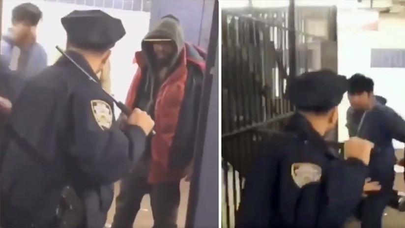 Policía enfrenta solo a 5 borrachos para defender a una mujer