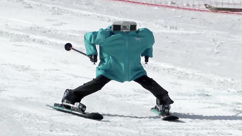 VIDEO Robots esquiadores sorprenden con su destreza y habilidad en los