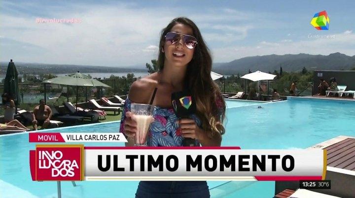 Cinthia Fernández abandonó un móvil entre lágrimas