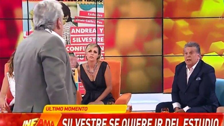 Luis Ventura y Silvestre protagonizaron un escándalo en el aire de