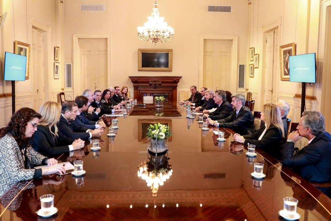 Macri recibió el apoyo de los senadores