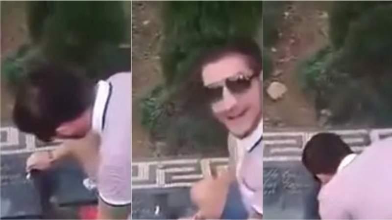 Amenazado tras aspirar cocaína en la tumba de Escobar