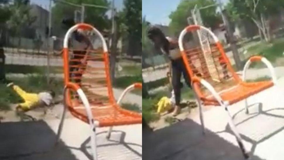 Graban a madre maltratando brutalmente a su bebé de dos años