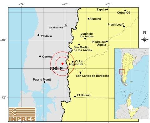 Sismo de magnitud 6,0 sacude a cinco regiones del sur de Chile