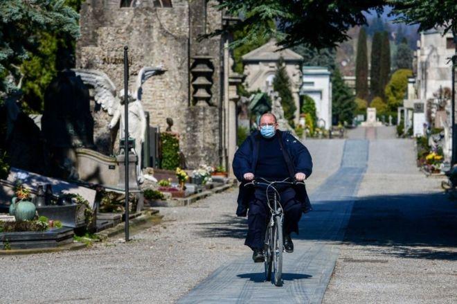 Ciudad de Italia traslada ataúdes hacia otras zonas por coronavirus — Cementerio colapsado