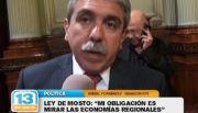 Ley del Mosto: An�bal Fern�ndez se puso el proyecto al hombro