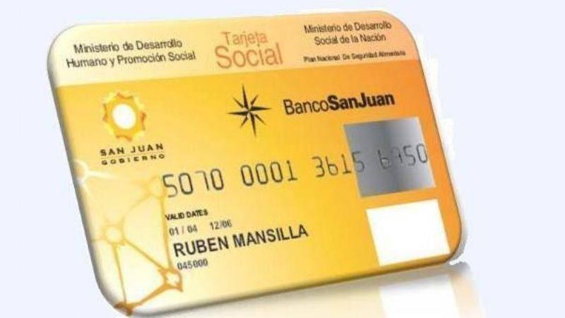 Resultado de imagen para tarjeta social san juan