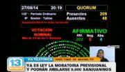 """""""La presidenta tiene urgencia en poner en funcionamiento la moratoria previsional"""""""