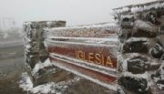 S�bado de llovizna y nieve en Iglesia y Calingasta