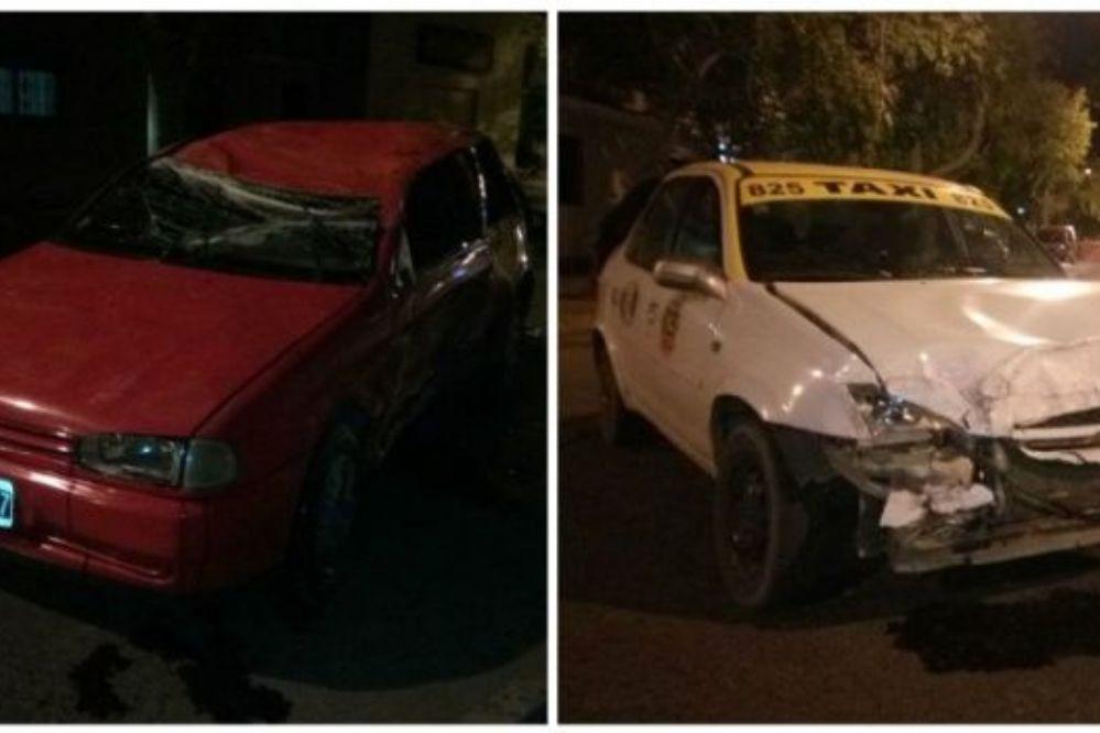 Terrible choque y vuelco en Capital: cinco heridos