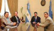 Antes de viajar a China, Uñac recibió al nuevo presidente del Banco San Juan