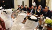 Con Uñac a su lado, Macri se reunió con empresarios árabes