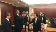 Con Caputo, Uñac presentó el Tambolar en el Eximbank de China