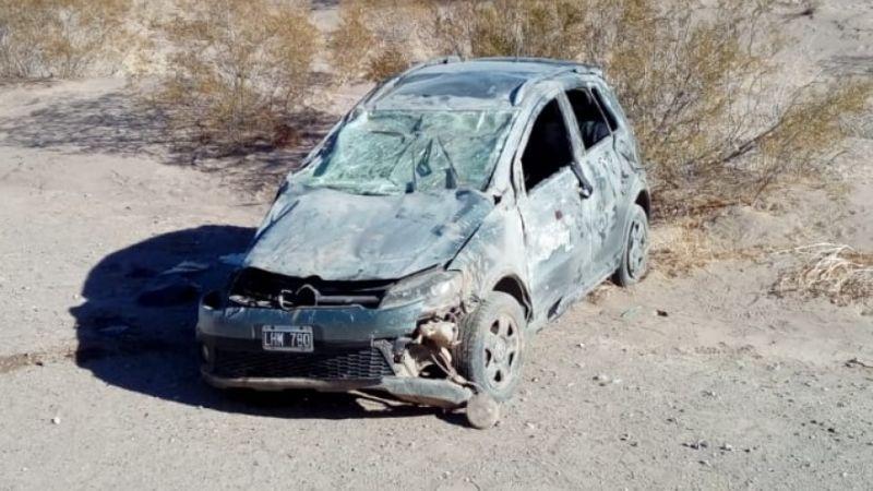 Brutal choque y vuelco en la Ruta 40 dejó varios heridos