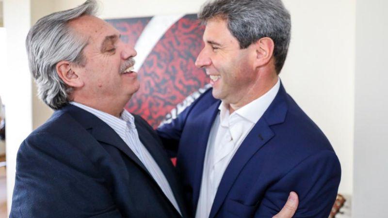 Fotogalería: el abrazo político de Uñac con Alberto Fernández