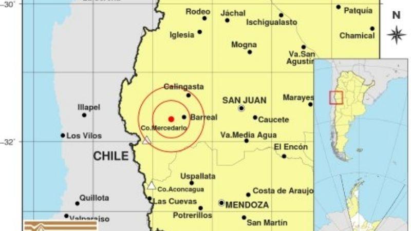 Fuerte sismo sacudió la siesta sanjuanina