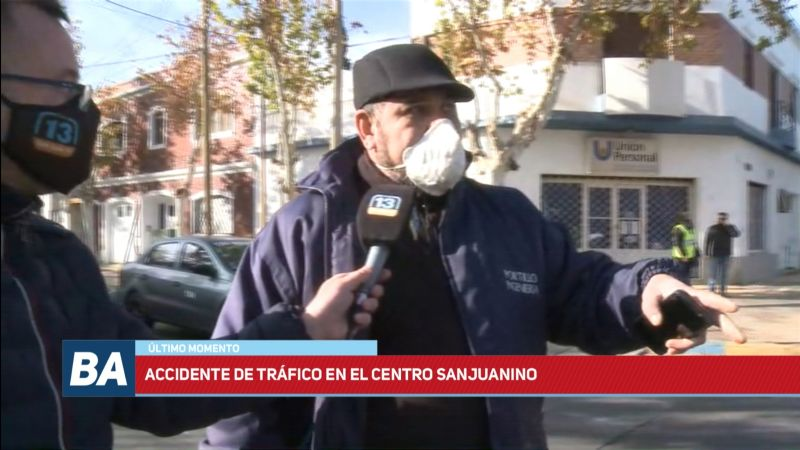 Impactante choque múltiple en pleno centro